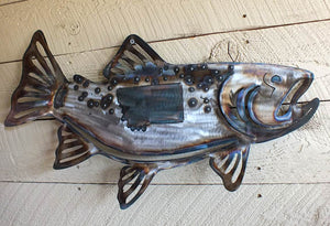 Trout Fish Metal Wall Art