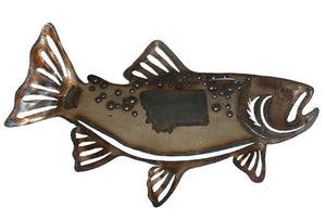 Trout Fish Metal Wall Decor