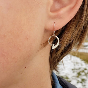 Montana Sapphire Dainty Wave Earrings