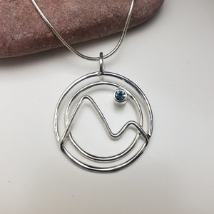 Mountain Necklace with Montana Sapphire