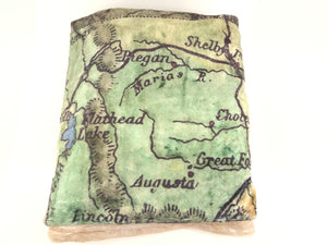 Montana Hand-Drawn Map Silk Touch Throw Blanket