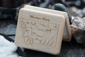 Montana River Map Fly Box - Distinctly Montana - 1