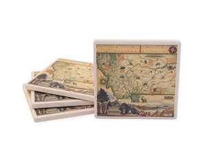 Montana Map Ceramic Coasters