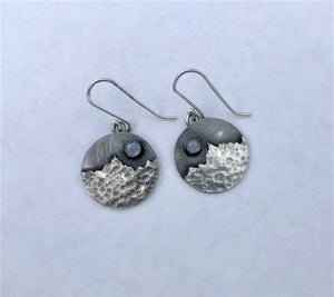 Full Moon Over Bridgers Earrings