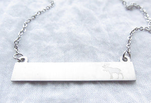 Moose Bar Montana Necklace (Gold or Silver)