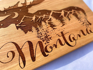 Wild Moose Hardwood Cutting Board
