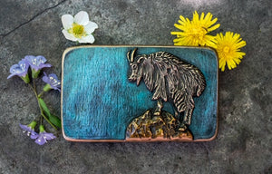 Mountain Goat Belt Buckle [choose finish]