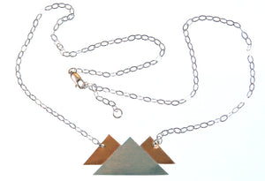 Mountain Range Necklace (Sterling & Copper)
