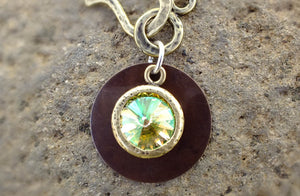Sun Drop Necklace with Rivoli Crystal - Distinctly Montana - 4