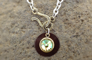 Sun Drop Necklace with Rivoli Crystal - Distinctly Montana - 1