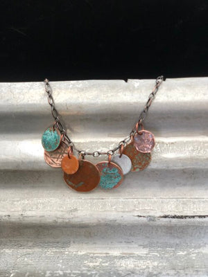 Patina with Colorful Discs Necklace