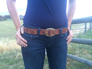 Vintage Stamp Brown Owl Belt