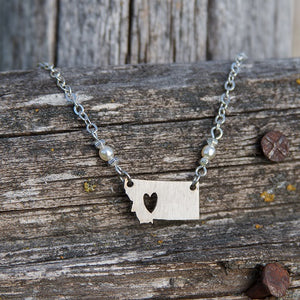 Montana Charm with Pearl Necklace