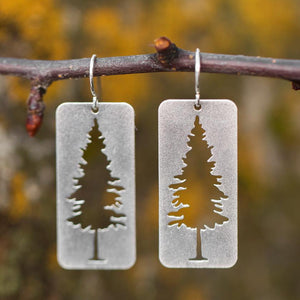 Silver Montana Pine Earrings