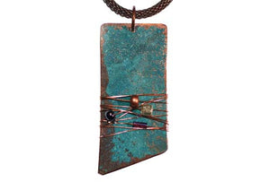 Bead & Blue Copper Necklace