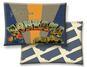 Montana Greetings Throw Pillow
