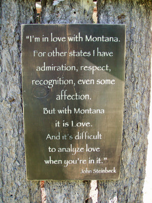 Montana Steinbeck Quote Wall Sign