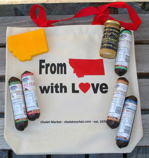 """Montana Love"" Sausage & Cheese with Tote Care Package"