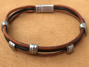 Tumbleweed Leather Bracelet, Brown