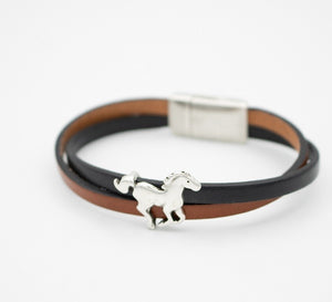 Giddy Up Skinny Leather Bracelet