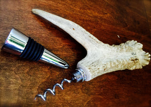 Antler Crown Corkscrew Stopper Combo