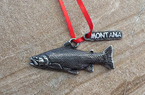 Trout Christmas Ornament
