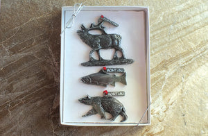 Yellowstone Wildlife Ornaments