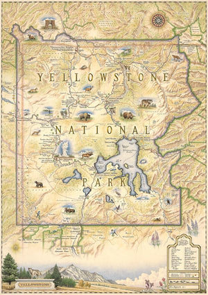 Yellowstone Soft Fleece Map