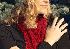 "Hand Knit Alpaca 60"" Scarf - 5 colors"