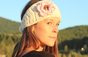Women's Alpaca Wool Headband, Crochet