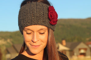 Women's Alpaca Headband, Crochet