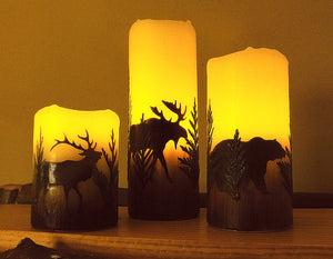 Montana Wildlife Flameless Candles