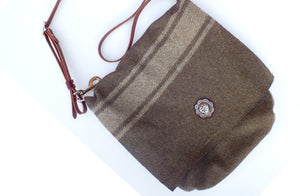 Wool Messenger Bag, Large