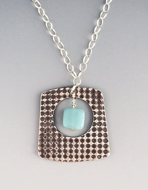 Trapazoin amazonite Montana necklace