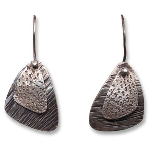 Overlaid Triangles Sterling Earrings
