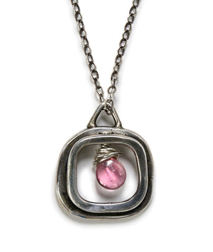 Window with Pink Tourmaline Necklace
