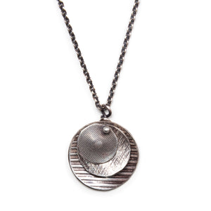 Three Disks Sterling Necklace