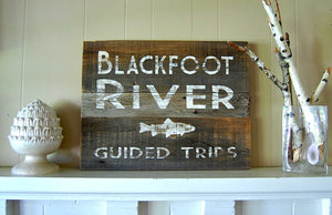 River Guide Salvage Sign