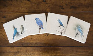 Montana Bluebirds Stone Coasters