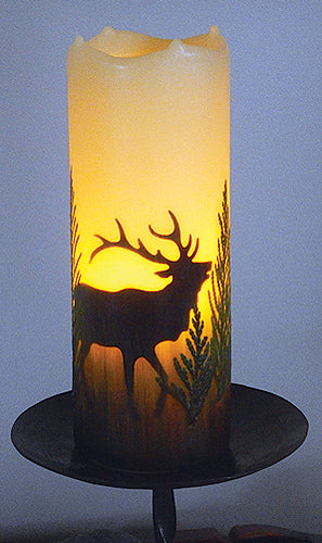 Elk Flameless Candle with Timer (size choices)