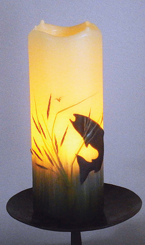 Happy Trout Flameless Candle with Timer (size choices)