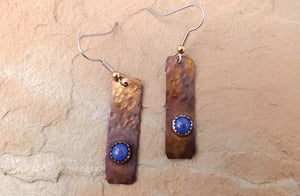 Lone Peak Copper Earrings