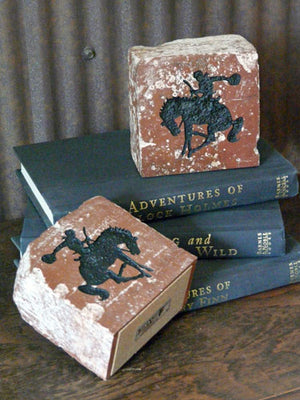 Rodeo Cowboy Brick Book-Ends