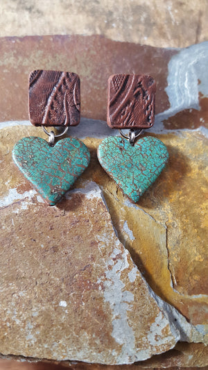 Rustic Heart Montana Earrings