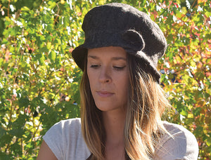 Brimmed Alpaca Wool Hat, Women's