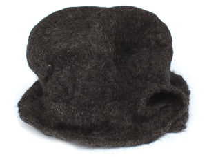Alpaca Wool Hat, Felted Brim