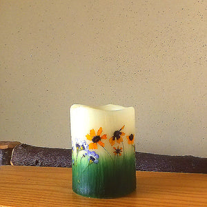 Nature Themed Flameless Candle