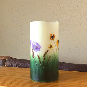 Flameless Candle, Wildflowers