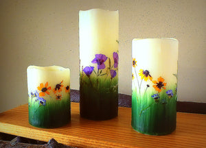 Montana Wildflower Flameless Candles