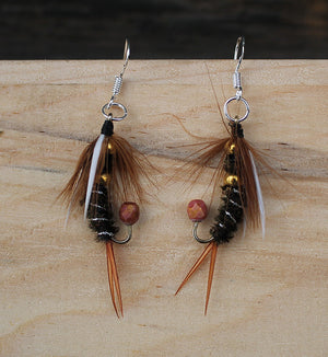 Trout Fly Earrings